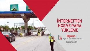 İnternetten HGS'ye Para Yükleme